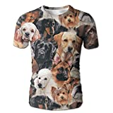 XIA WUEY Puppy Face Men'sPopular Baseball Tshirt Graphic Tees Tops For Running