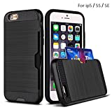 TSWA Slim Dual Layer Wallet Case for iPhone 5 / 5S / SE - Black