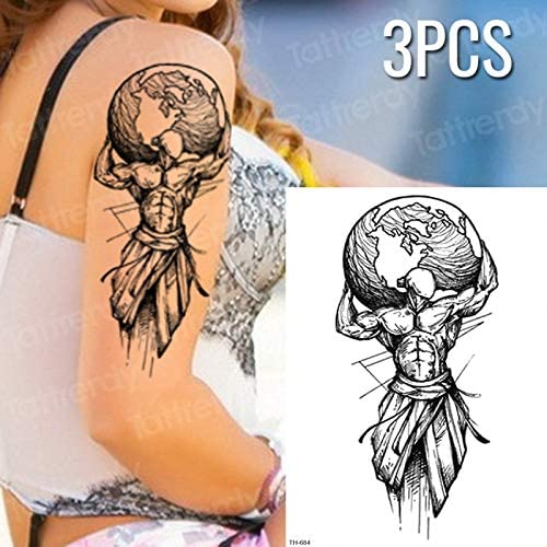 tzxdbh 3 unids/Set Tatuajes temporales para Hombres, Mujeres ...