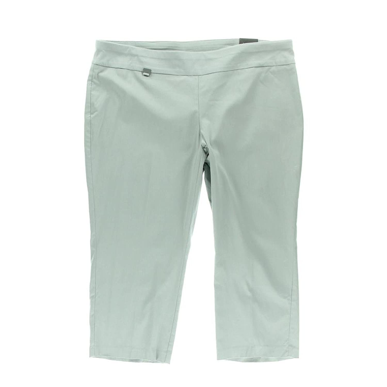 Alfani Plus Size Pull-On Capri Pants (22W, GREY)