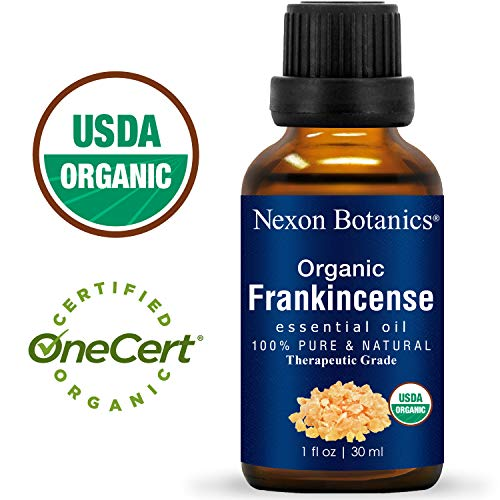 Nexon Botanics Organic Frankincense Essential Oil 30 ml - USDA Certified Frankincense Oil Organic - Pure, Natural Frankensence Essential Oil for Diffuser and Aromatherapy (Best Essential Oil For Wounds)