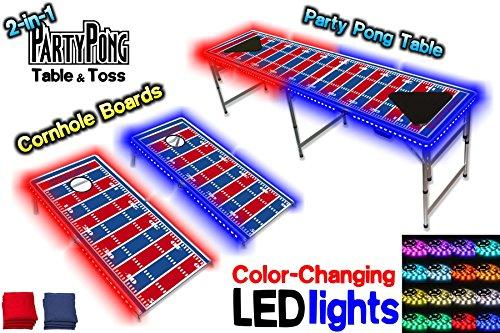 Cornhole Boards Table Optional Lights