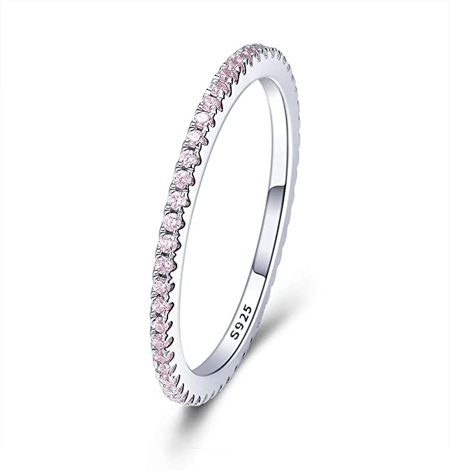 Voroco European 925 Sterling Silver Open Finger Ring Delicate Heart Band Jewelry