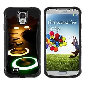 Be-Star único patrón Impacto Shock - Absorción y Anti-Arañazos Funda Carcasa Case Bumper Para SAMSUNG Galaxy S4 IV / i9500 / i9515 / i9505G / SGH-i337 ( Glowing Buttons Console )