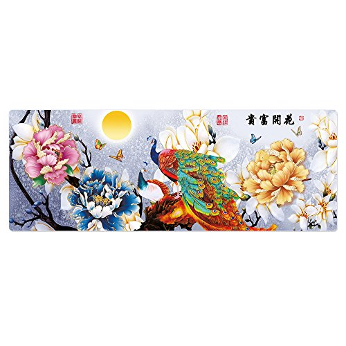 Cmhoo Large Mouse Pad Gaming & Professional Computer Extra Large Mouse Pad / Mat 27.5IN (7030 Rich flowers)