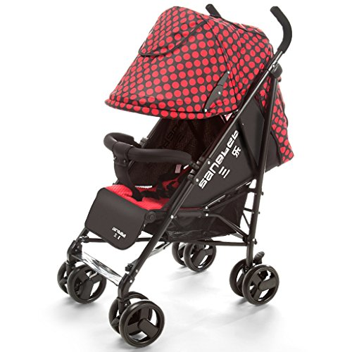Baby Strollers Ultra-light Portable Folding Umbrella Can Sit Reclining Child Shock Trolley (red) 660 510 1040mm