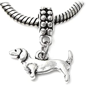 J&M Dangle Dachshund Dog Charm for Bracelets