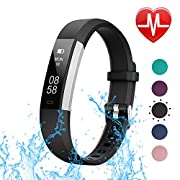 #LightningDeal 96% claimed: LETSCOM Fitness Tracker with Heart Rate Monitor, Slim Sports Activity Tracker Watch, Waterproof Pedometer Watch with Sleep Monitor, Step Tracker for Kids, Women, and Men