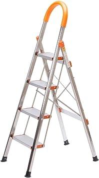 GBX Escalera Plegable, Blanca Plegable Taburete de Paso de Escalera 2 Niveles Flor Estante Planta Soporte Aluminio Al Aire Libre Estante de Almacenamiento Duradero,Style-1: Amazon.es: Bricolaje y herramientas