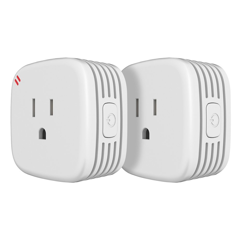 ISUKE 2-Pack Wi-Fi Smart Plug,Mini Outlet with Energy Monitoring, No Hub Required,ETL Listed, White, Compatible with Alexa/Google Assistant/IFTTT,ETL and FCC listed (2)