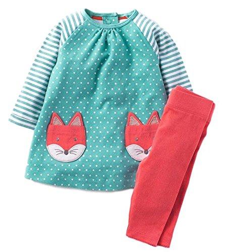 BomDeals Cute Baby Girl 2 Pcs Pants Set Top and Legging Set (Age(7T), (Christmas Outfits Australia)