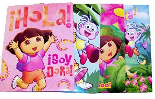 Dora the Explorer Set of 4 Folders (Hola, Explorers Wanted, Peek, Pink Hola)