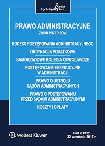 Download Prawo administracyjne Zbiór przepisów pdf epub