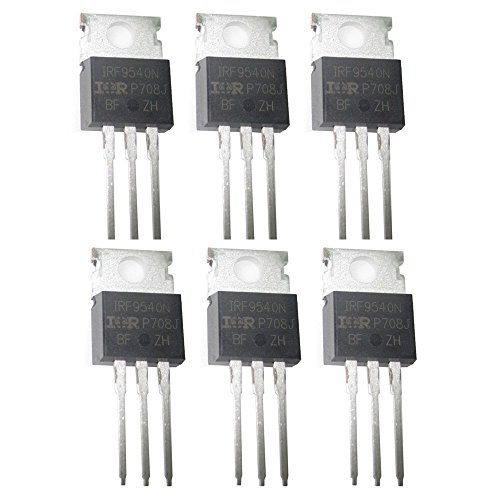 IRF9540N P-channel Mosfet IRF9540 100V 23A Fast Switching Power MOSFET Pack of 6
