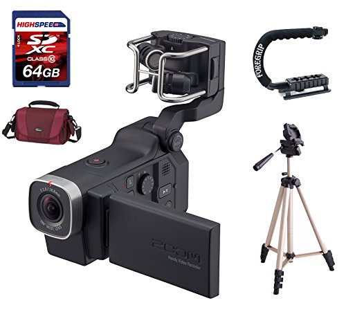 Zoom Q8 Handy Video Recorder + Tripod + 64GB Memory Card + Action Grip + Gadget BagZQ8 by Electric dreams
