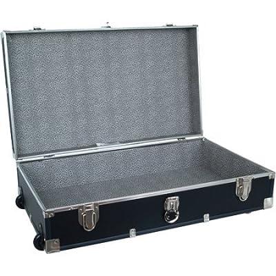 "Mercury Luggage Seward Under the Bed Wheeled Storage Footlocker, 31"" in Black"
