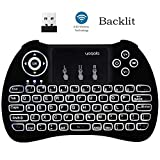 YAGALA FMKRFL1-IV20 H9 2.4GHz Backlit Mini Wireless Keyboard with Touchpad Mouse for Google Android TV Box, PC, HTPC, IPTV, PS3, Multi-Media Keys Handheld Android Remote Keyboard Touchpad Mouse