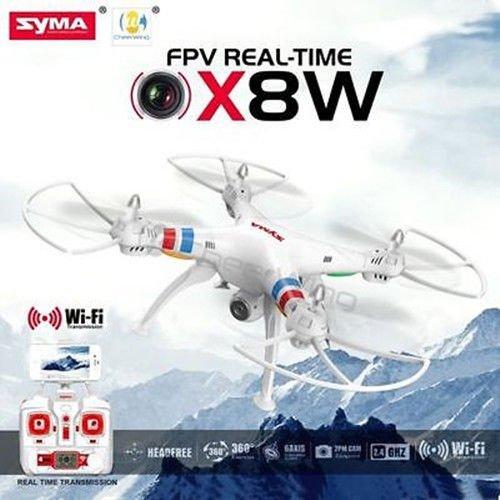 Syma X8W Explorers WiFi FPV RC Drone Quadcopter 4CH Gyro 2MP Camera RTF white US .HN#GG_634T6344 G134548TY12815