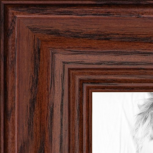 ArtToFrames 14x17 inch Cherry stain on Solid Red Oak Wood Picture Frame, 2WOM0066-59504-YCHY-14x17 Cherry Stain Oak