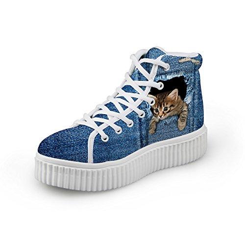 HUGS IDEA Cute Jeans Women Sneakers High Top Shoes Shoes1 OBabYfEuyj