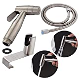 CIENCIA Hand Held Bidet Sprayer Premium Stainless Steel Sprayer Shattaf - Complete Bidet Set for Toilet, Hand Bidet Sprayer for Toilet WS024AS