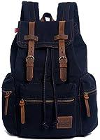 EcoCity Vintage Canvas Backpack Rucksack Casual Daypacks Bookbags