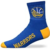 For Bare Feet NBA Golden State Warriors Youth Team Color Ankle Socks - Royal Blue/