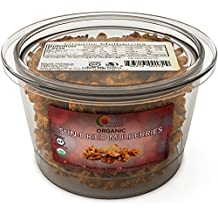 Sun Dried Mulberries – 100% Organic Natural Mulberry Fruit- An Anti- Aging Super Food - Certified Gluten & Free Kosher – Great For Trail Mix & Baking - 8 Oz - Vegan - by Maple Holistics
