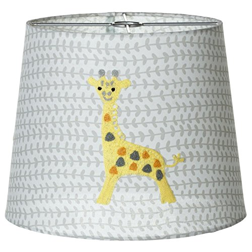 - Diva At Home Set of 4 Gray and Yellow Decorative Embroidered Giraffe Lamp Shade 10