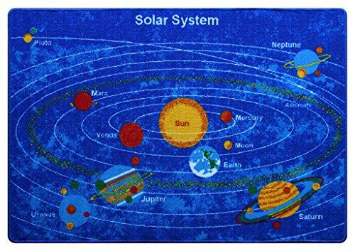 Masada Rugs Kids Area Rug - Solar System Design (5 Ft. X 7 Ft.)