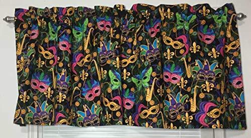 Mardi Gras Masquerade Masks Fun Mask Party Celebration Curtain Valance