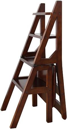 Taburetes escalera escalera de escalada taburete de madera escalera plegable silla Escalera de mano creativa escalerilla de casa multifunción taburete de madera escalera de escalada taburete escalera: Amazon.es: Hogar