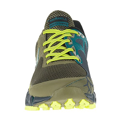 Merrell Mens Agility Charge Flex Lightweight Trail Running Shoes Green/Yellow