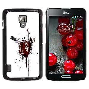 LECELL -- Funda protectora / Cubierta / Piel For LG Optimus L7 II P710 / L7X P714 -- Bloody Toast --