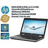 "HP ProBook 14"" Notebook,Intel Core i5-2520M 2.5Ghz, 4GB RAM, 128GB SSD, DVD/CDRW Combo, Windows 7 Pro w/1 Year Warranty (Certified Refurbished)"