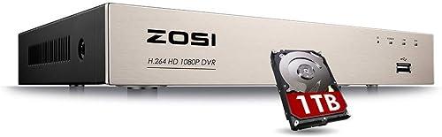 ZOSI 4CH 1080P 4-in-1 HD-TVI Security Video Recorder DVR