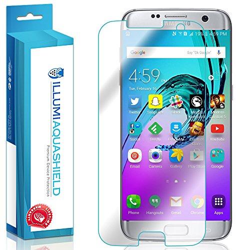Galaxy S7 Edge Screen Protector (2-Pack)(Case Friendly), ILLUMI AquaShield Premium High Definition Ultra Clear / Invisible Bubble-Free UV Resistant Self-Healing Film w/ Lifetime Warranty