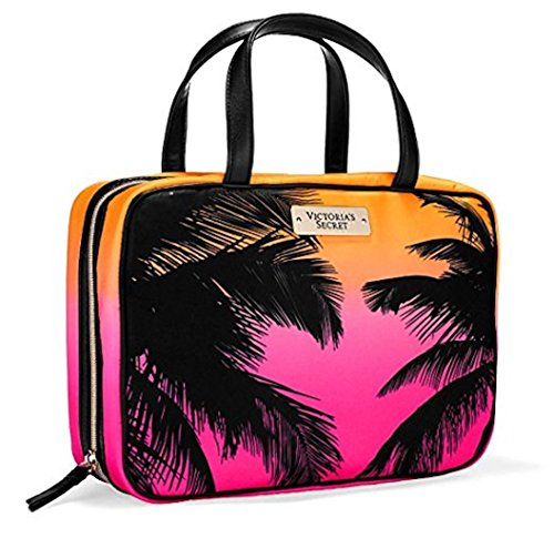 Victoria Secret Hanging Travel Tote Bag Weekender Cosmetic Carrier Palm Tree Trees Hawaii Caribbean Cruise 2016