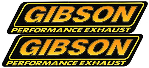 Gibson Exhaust Racing Decals Stickers 7-1/4 Inches Long Size Set of 2 (Gibson Decal Set)