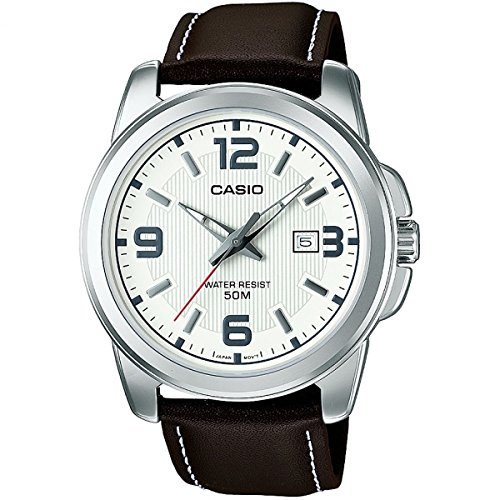 Casio Herren Analog Quarz mit Edelstahl Armbanduhr