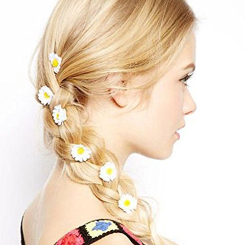 fashion-flower-daisy-hair-clip-hairpin-accessories-slide-hot-white-6pcs