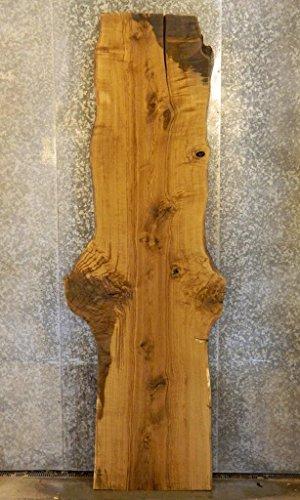 - White Oak Rustic Bar Top/Head/Footboard Natural Edge Wood Slab T: 2 9/16'', W: 36 5/8'', L: 106 3/8'' - 20596
