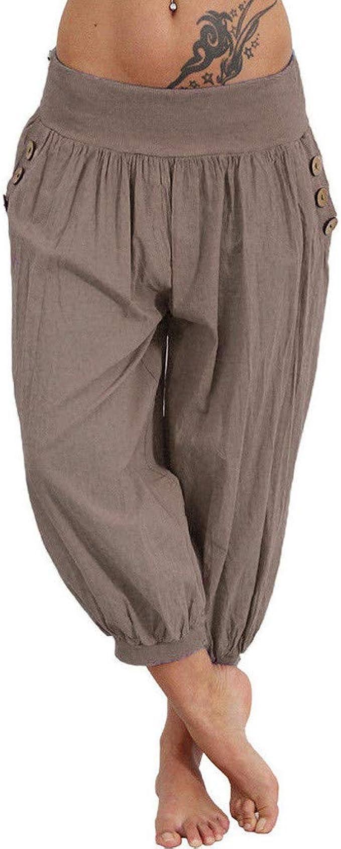 Amazon.com: Selinora Pantalones de yoga para mujer de talla ...