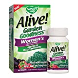 Nature's Way Alive! Garden Goodness Women's  Multivitamin, Veggie & Fruit Blend (1400mg per serving), Made with Organic Kale, 60 Tablets Review