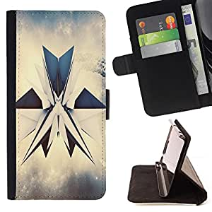 DEVIL CASE - FOR Sony Xperia Z2 D6502 - abstrakciya render grani figura - Style PU Leather Case Wallet Flip Stand Flap Closure Cover