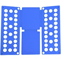 Clothes T Shirt Top Folder Magic Folding Board Flip Fold Laundry Organizer (Adult Size Blue)