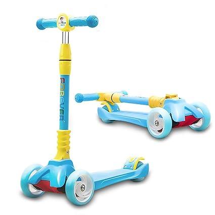 ZLMI Andador para bebés, Peso Ligero Inclinación de 3 Ruedas y Giro Patinete Plegable Patinete