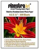 5x7 photo paper 100 sheets - Finestra Art 8.5x11 Premium Luster Inkjet Photo Paper - 100 Sheets 8.5mil