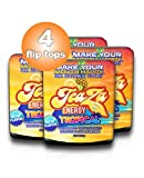 TeaZa Energy's New – Tropical 4 Flip Tops - Mixture of Pineapple, Mango and Citrus