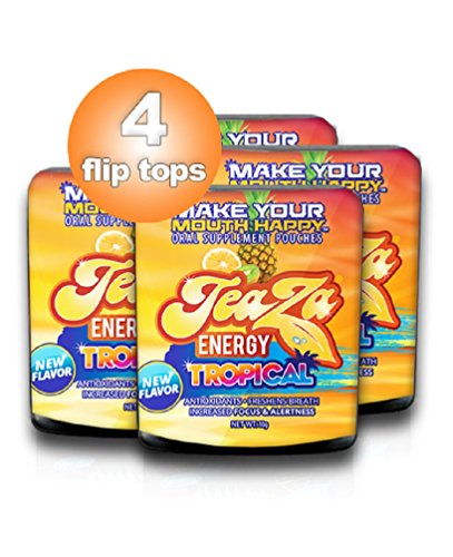 TeaZa Energy's New - Tropical 4 Flip Tops - Mixture of Pineapple, Mango and Citrus